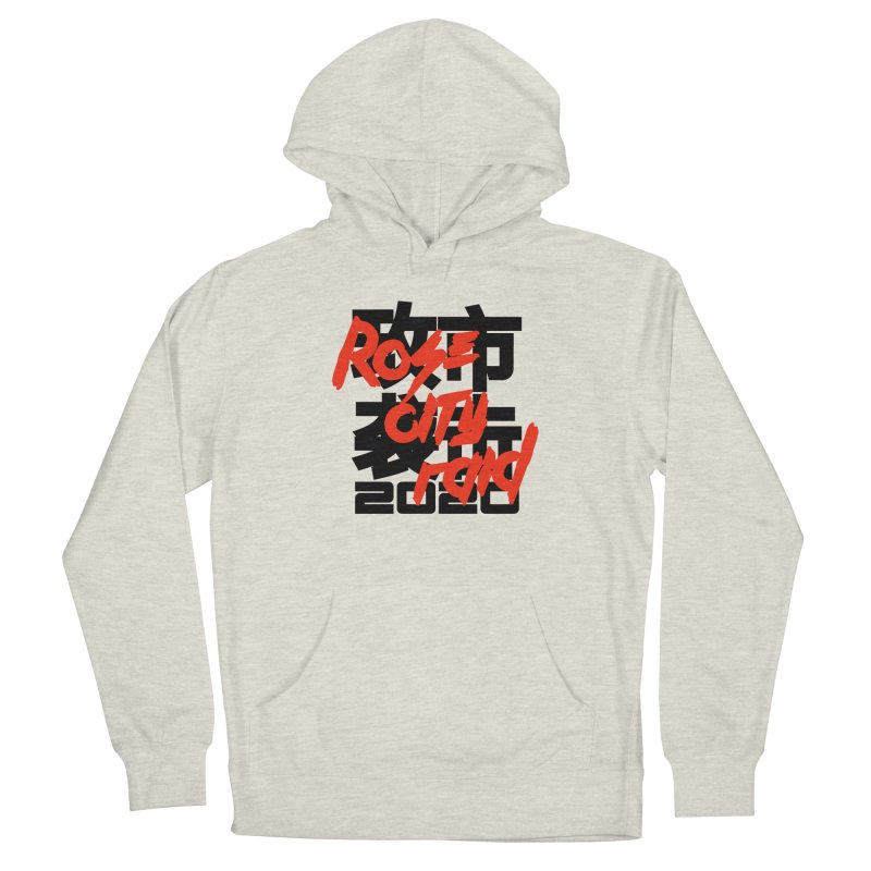 Rose City Raid 2020 Black on White Men's French Terry Pullover Hoody by thediceabide's Artist Shop