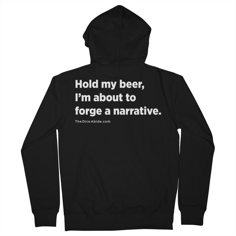 Forge a Narrative Men's French Terry Zip-Up Hoody by thediceabide's Artist Shop