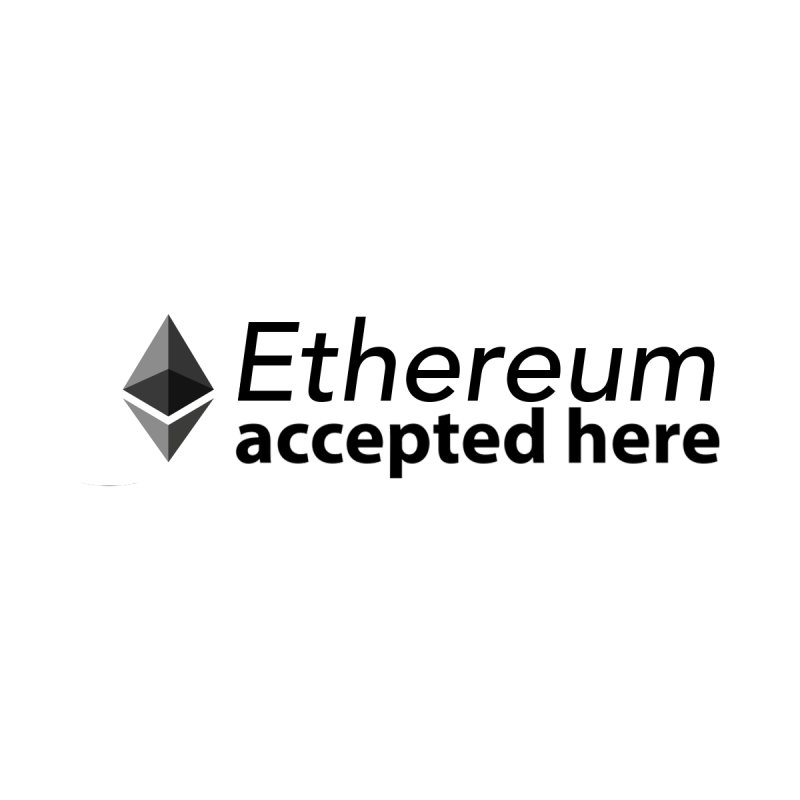 ETH Accepted Here by The Digital Ledger Shop
