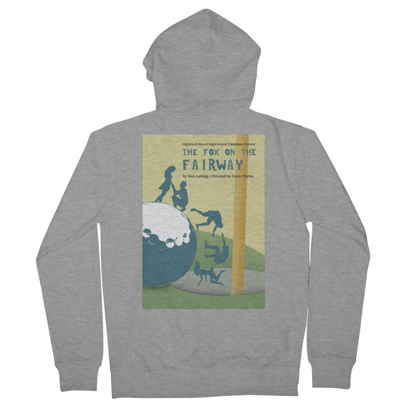 The Fox on the Fairway Swag Men's French Terry Zip-Up Hoody by HRHS Thespian Swaggy Tees