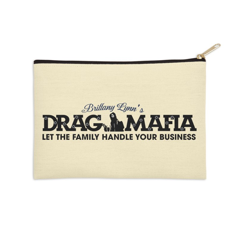 Drag Mafia Logo Accessories Zip Pouch by BRITTANY LYNN AND HER DRAG MAFIA