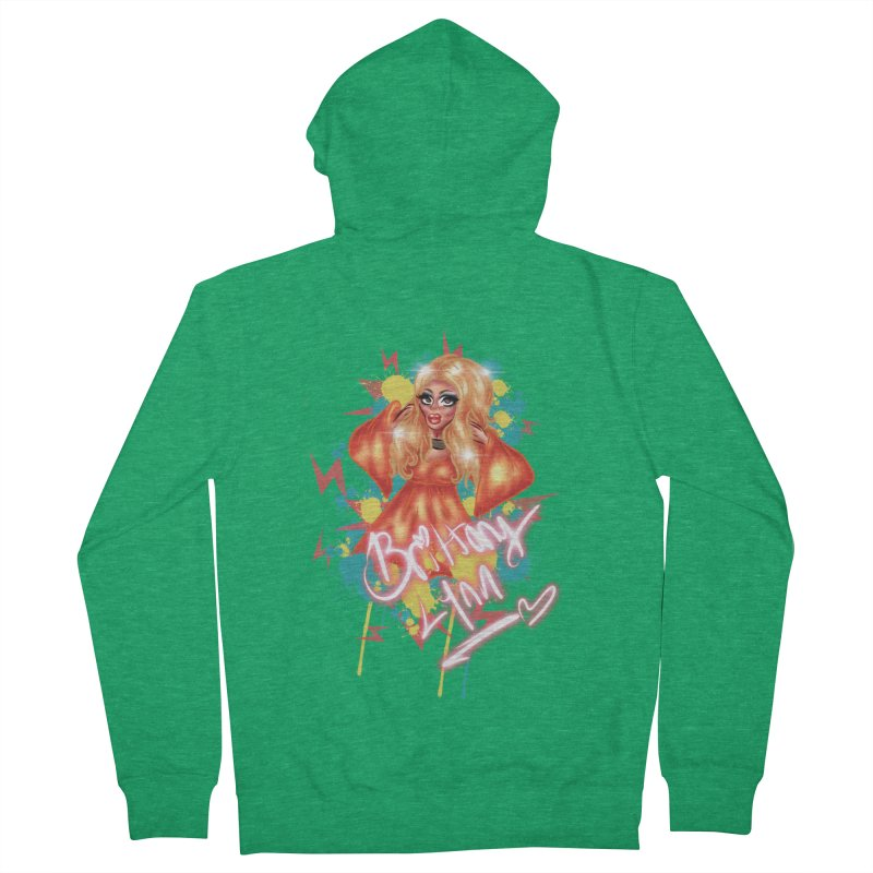 Pretty Brittany Men's Zip-Up Hoody by BRITTANY LYNN AND HER DRAG MAFIA