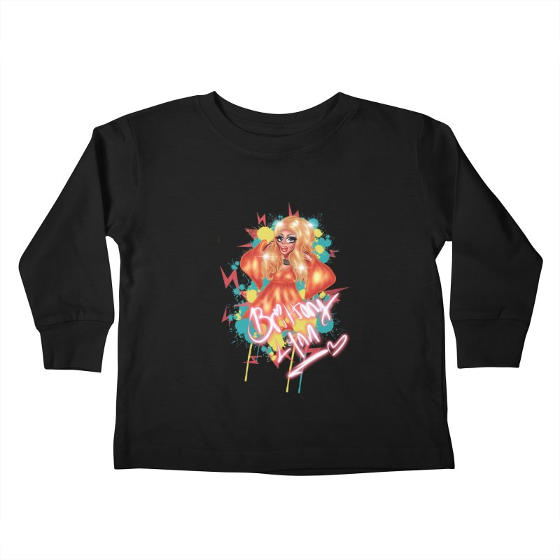 Pretty Brittany Kids Toddler Longsleeve T-Shirt by BRITTANY LYNN AND THE PHILLY DRAG MAFIA