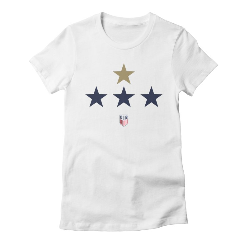 4-STARS (W) Women's Fitted T-Shirt by THE DUDES IN BLUE SHOP