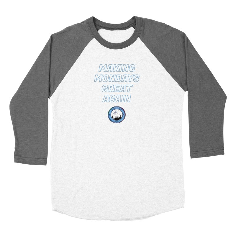 MONDAY BLUES Men's Baseball Triblend Longsleeve T-Shirt by THE DUDES IN BLUE SHOP