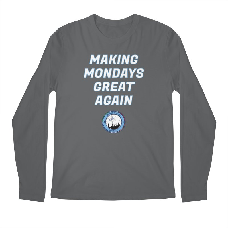 MONDAY BLUES Men's Regular Longsleeve T-Shirt by THE DUDES IN BLUE SHOP