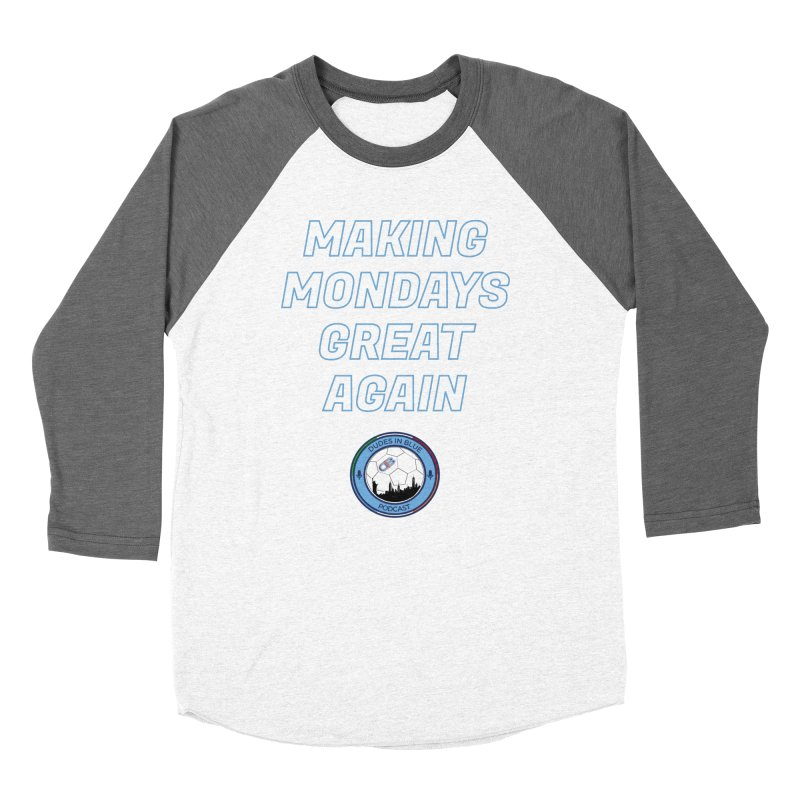 MONDAY BLUES Women's Baseball Triblend Longsleeve T-Shirt by THE DUDES IN BLUE SHOP