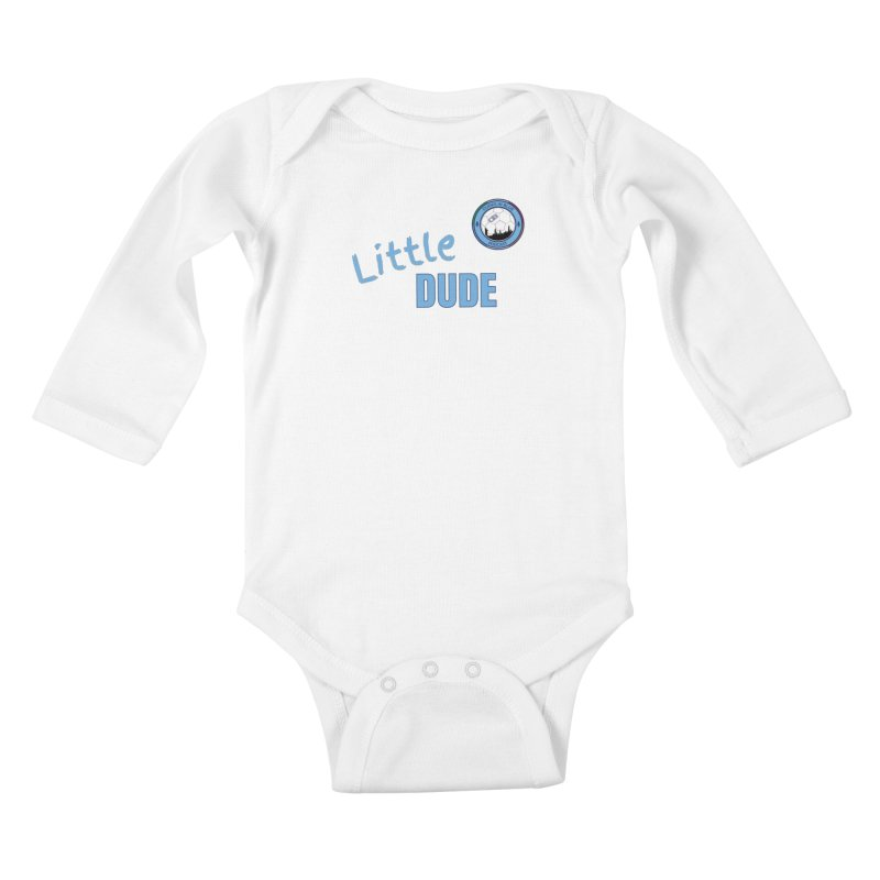LIL DUDE! Kids Baby Longsleeve Bodysuit by THE DUDES IN BLUE SHOP