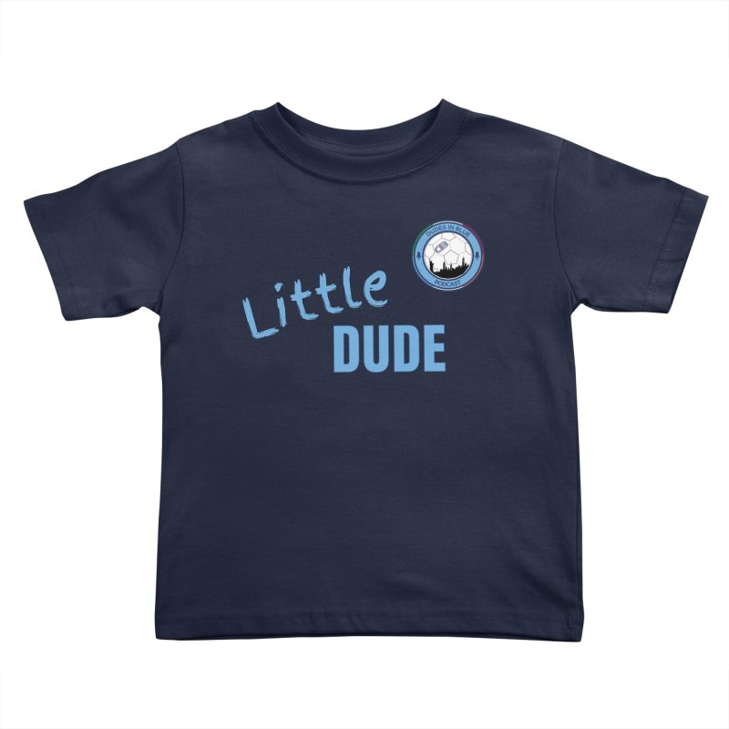 LIL DUDE! in Kids Toddler T-Shirt Navy by THE DUDES IN BLUE SHOP