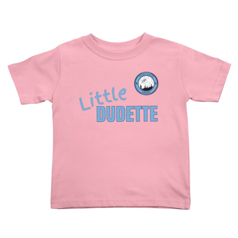 LIL DUDETTE! in Kids Toddler T-Shirt Light Pink by THE DUDES IN BLUE SHOP