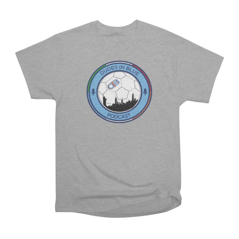 DUDES IN BLUE in Men's Heavyweight T-Shirt Heather Graphite by THE DUDES IN BLUE SHOP