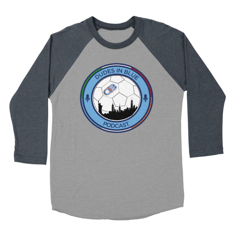 DUDES IN BLUE Men's Baseball Triblend Longsleeve T-Shirt by THE DUDES IN BLUE SHOP