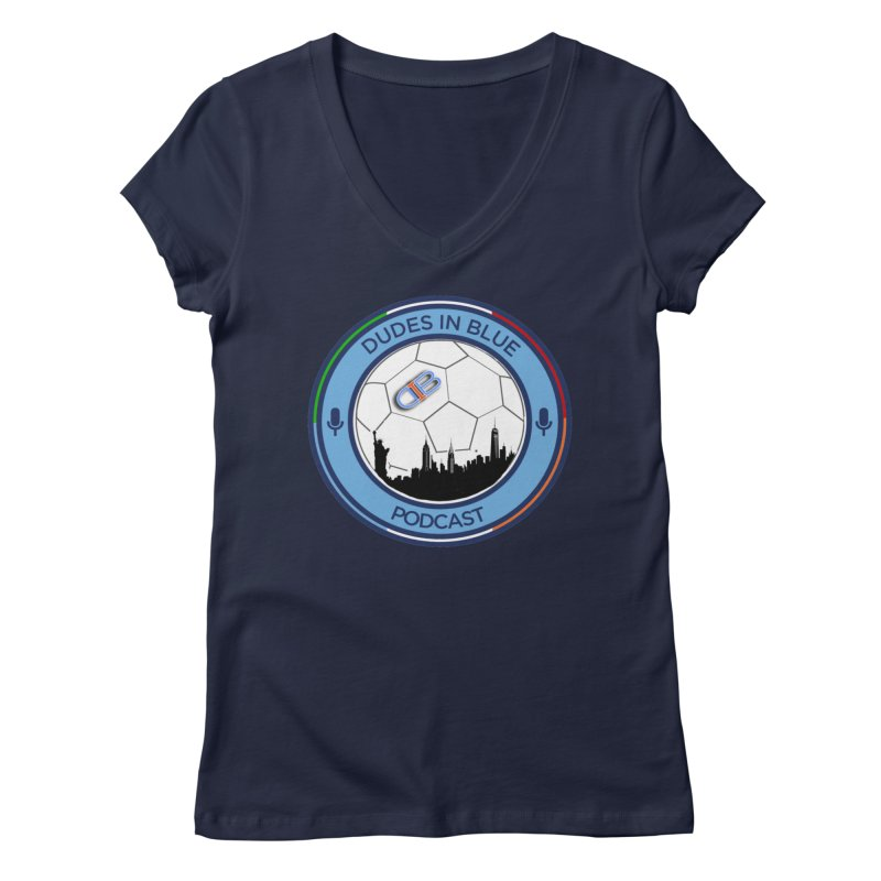 DUDES IN BLUE Women's Regular V-Neck by THE DUDES IN BLUE SHOP