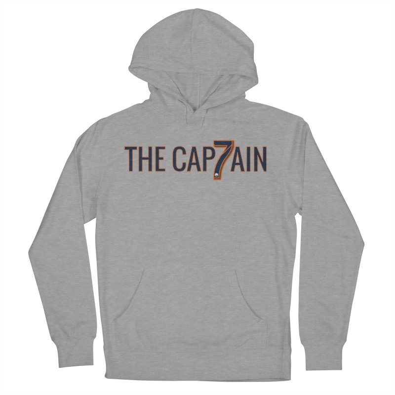 OH CAPTAIN, MY CAPTAIN! Men's French Terry Pullover Hoody by THE DUDES IN BLUE SHOP