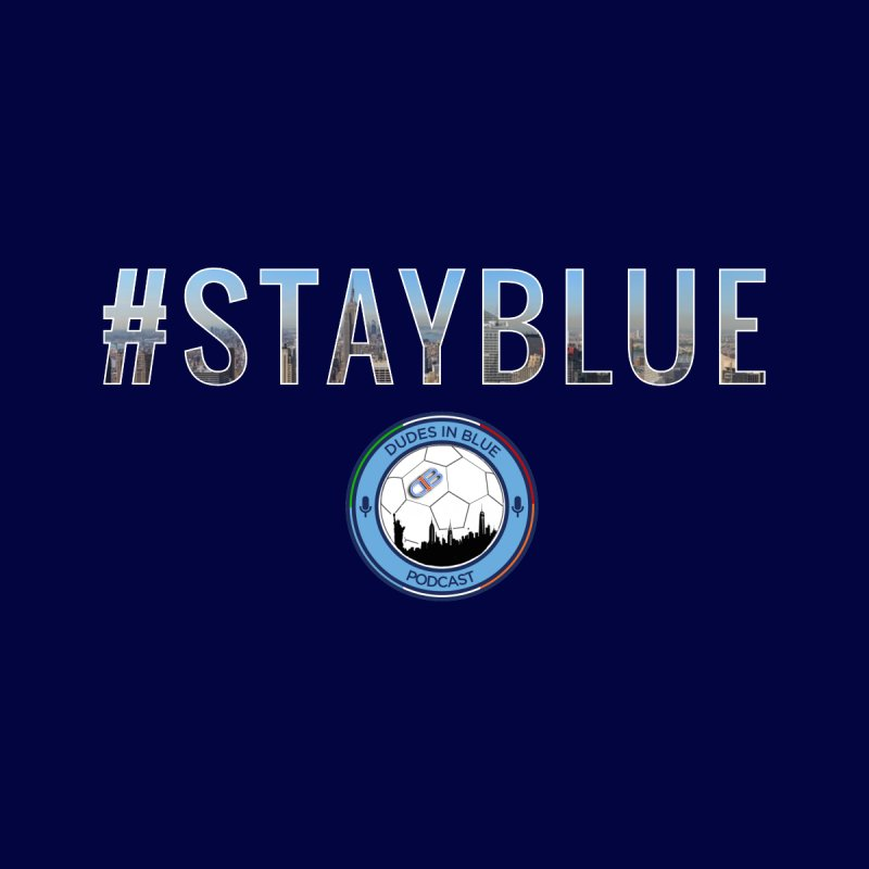 #STAYBLUE Men's T-Shirt by THE DUDES IN BLUE SHOP