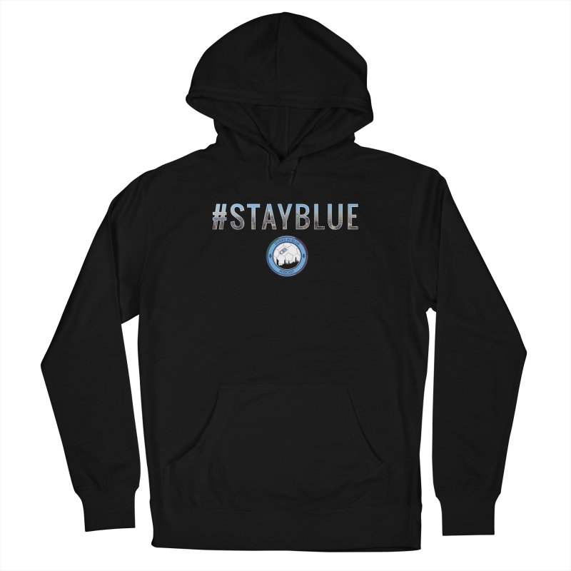 #STAYBLUE Women's French Terry Pullover Hoody by THE DUDES IN BLUE SHOP