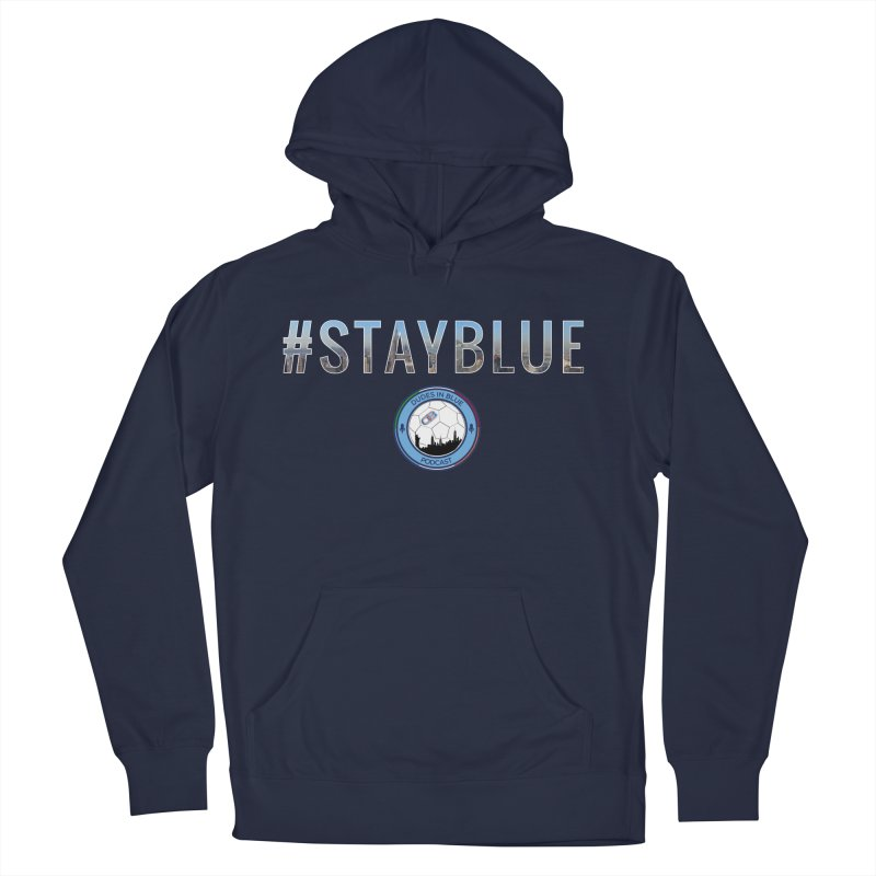 #STAYBLUE Men's French Terry Pullover Hoody by THE DUDES IN BLUE SHOP