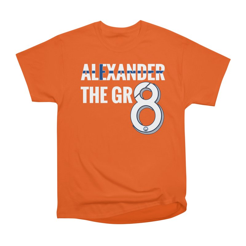ALEXANDER THE GR8! in Men's Heavyweight T-Shirt Orange Poppy by THE DUDES IN BLUE SHOP