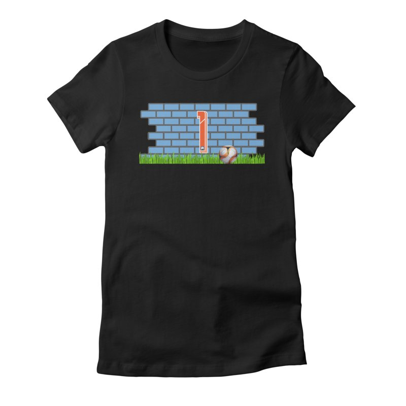 BRICK WALL Women's Fitted T-Shirt by THE DUDES IN BLUE SHOP