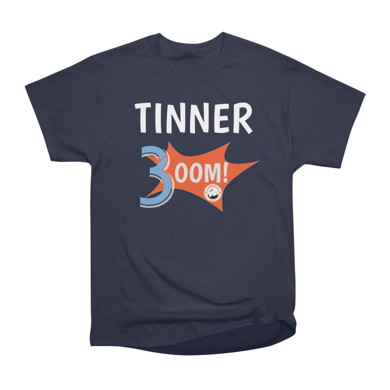 HERE COMES THE TINNER-BOOM! in Men's Heavyweight T-Shirt Navy by THE DUDES IN BLUE SHOP
