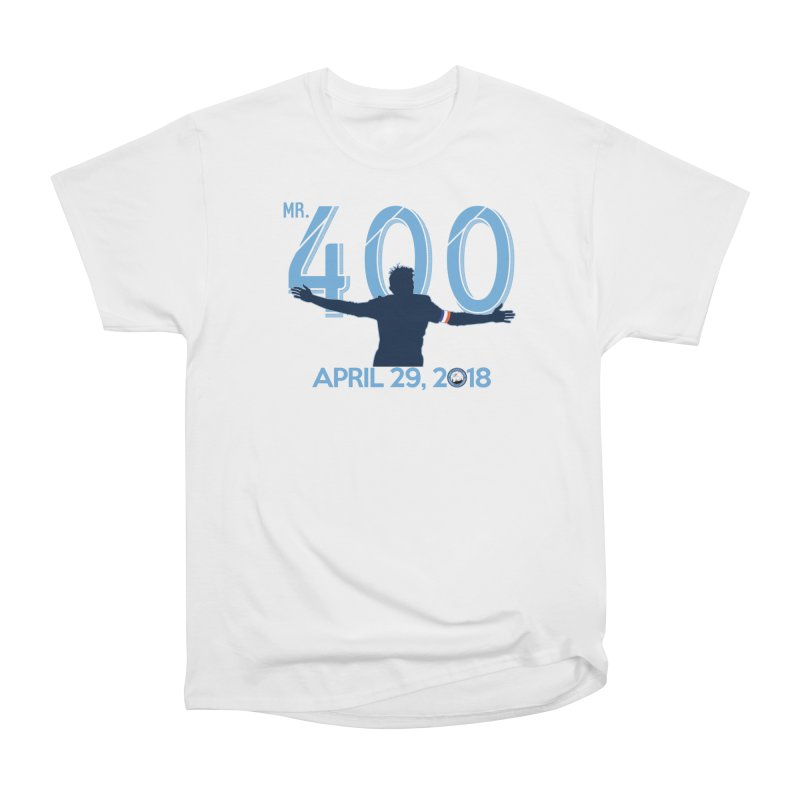 MR. 400! in Men's Heavyweight T-Shirt White by THE DUDES IN BLUE SHOP