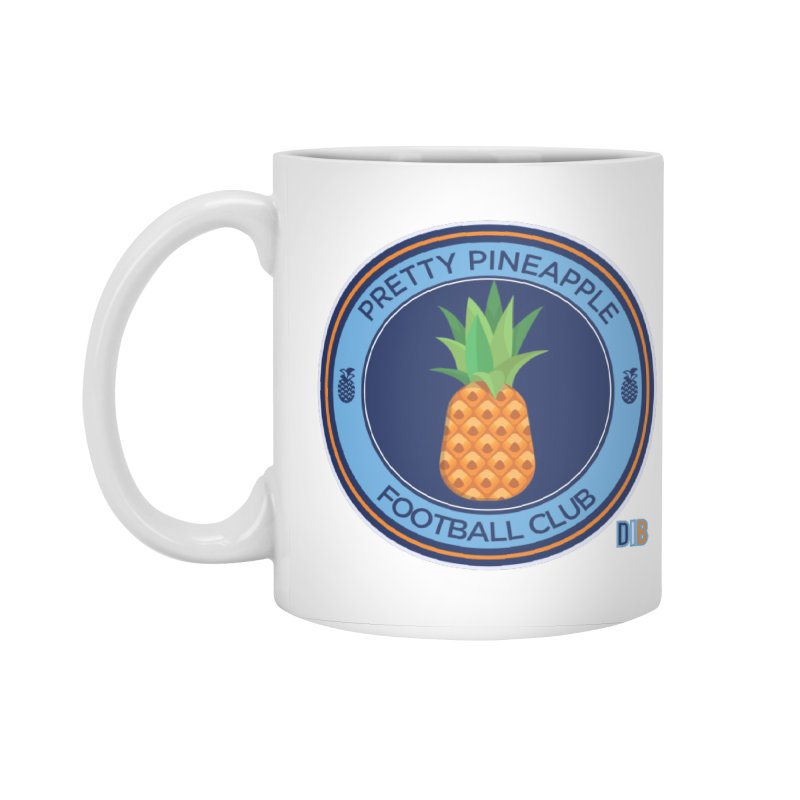 PRETTY PINEAPPLE FC Accessories Standard Mug by THE DUDES IN BLUE SHOP