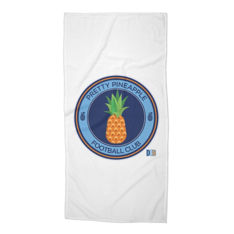 PRETTY PINEAPPLE FC Accessories Beach Towel by THE DUDES IN BLUE SHOP
