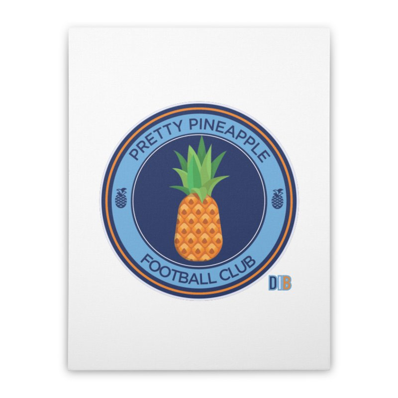 PRETTY PINEAPPLE FC Home Stretched Canvas by THE DUDES IN BLUE SHOP