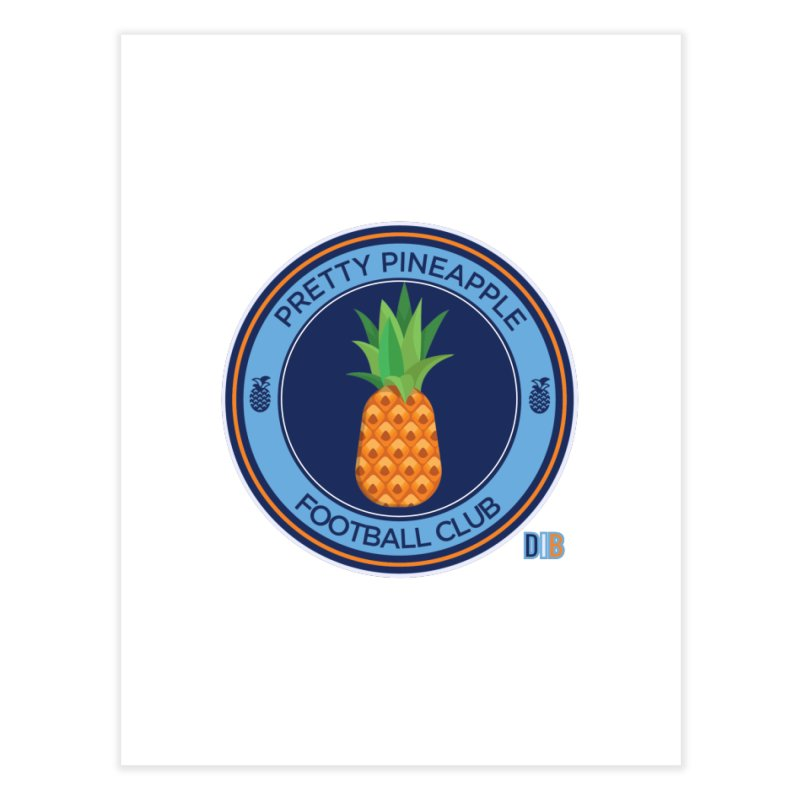 PRETTY PINEAPPLE FC Home Fine Art Print by THE DUDES IN BLUE SHOP