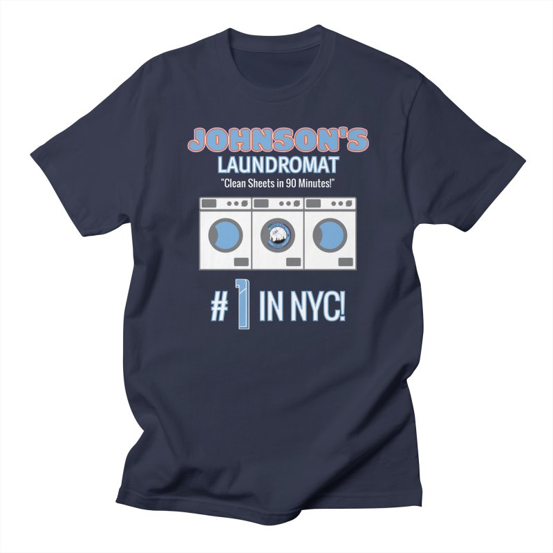 JOHNSON'S LAUNDROMAT in Men's Regular T-Shirt Navy by THE DUDES IN BLUE SHOP