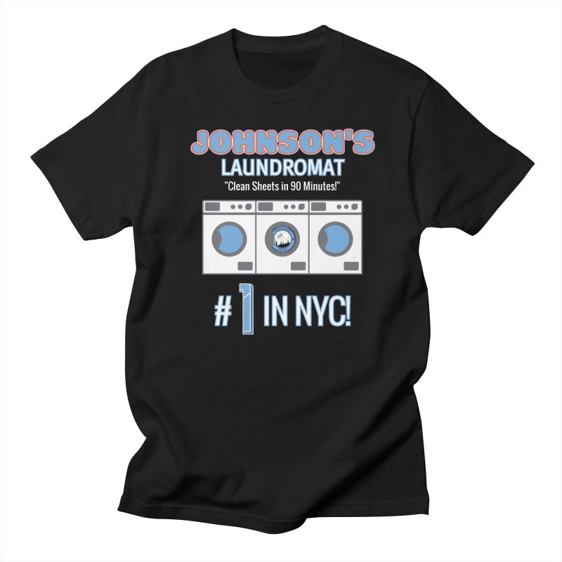JOHNSON'S LAUNDROMAT Men's Regular T-Shirt by THE DUDES IN BLUE SHOP
