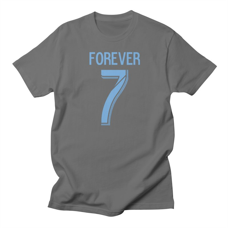 FOREVER SEVEN COLLECTION- SECONDARY 3 in Men's Regular T-Shirt Asphalt by THE DUDES IN BLUE SHOP