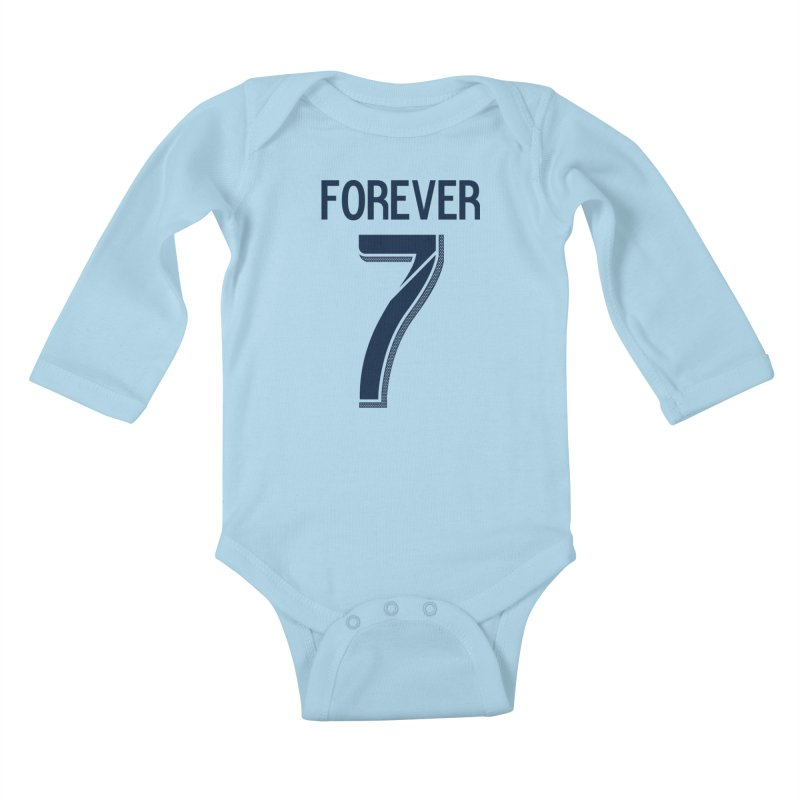 FOREVER SEVEN COLLECTION- PRIMARY Kids Baby Longsleeve Bodysuit by THE DUDES IN BLUE SHOP