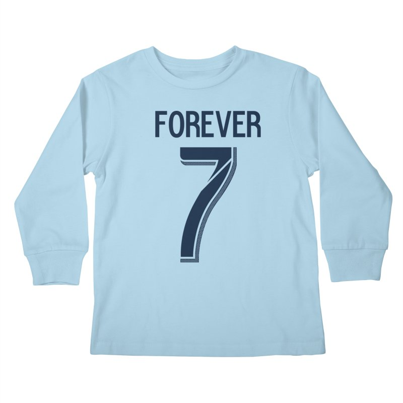 FOREVER SEVEN COLLECTION- PRIMARY Kids Longsleeve T-Shirt by THE DUDES IN BLUE SHOP
