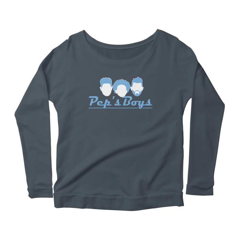 Pep's Boys Women's Scoop Neck Longsleeve T-Shirt by THE DUDES IN BLUE SHOP