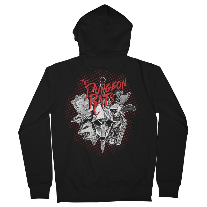 Long Live The Rats Men's French Terry Zip-Up Hoody by The Dungeon Rat's Shop