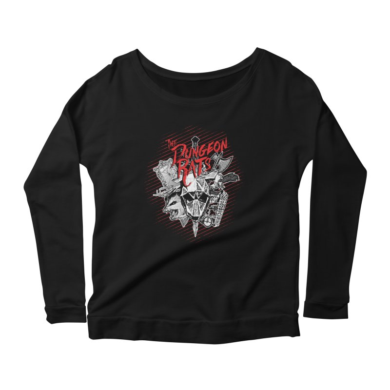 Long Live The Rats Women's Scoop Neck Longsleeve T-Shirt by The Dungeon Rat's Shop