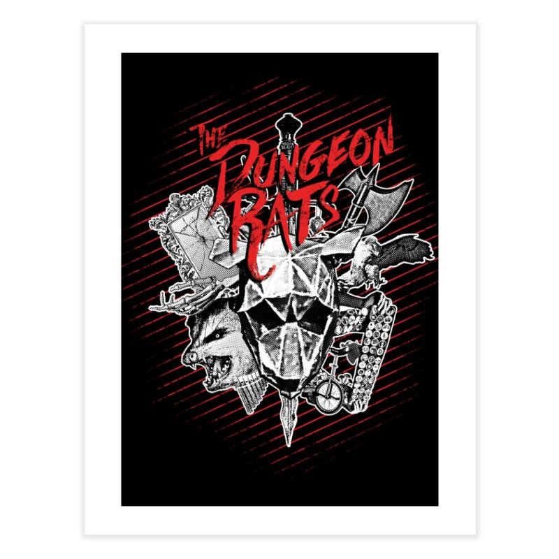 Long Live The Rats Home Fine Art Print by The Dungeon Rat's Shop
