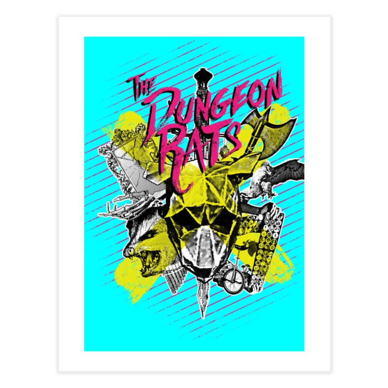 Death To All Rats Home Fine Art Print by The Dungeon Rat's Shop
