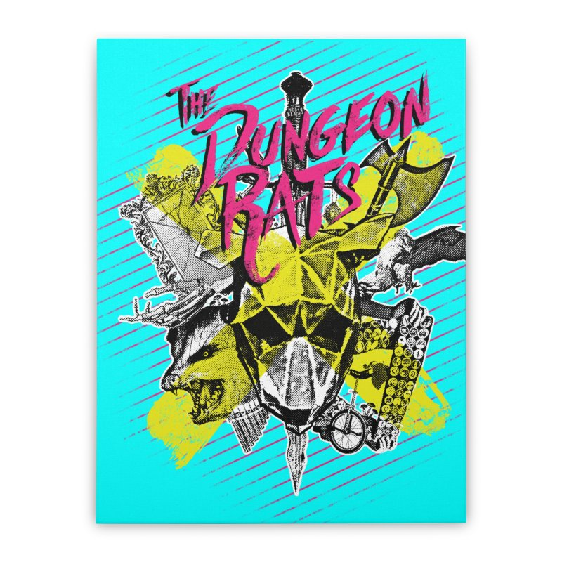 Death To All Rats Home Stretched Canvas by The Dungeon Rat's Shop
