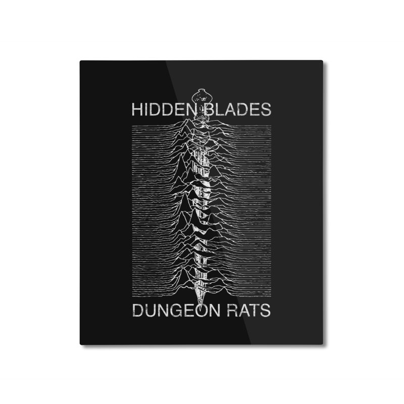Hidden Blades Home Mounted Aluminum Print by The Dungeon Rat's Shop