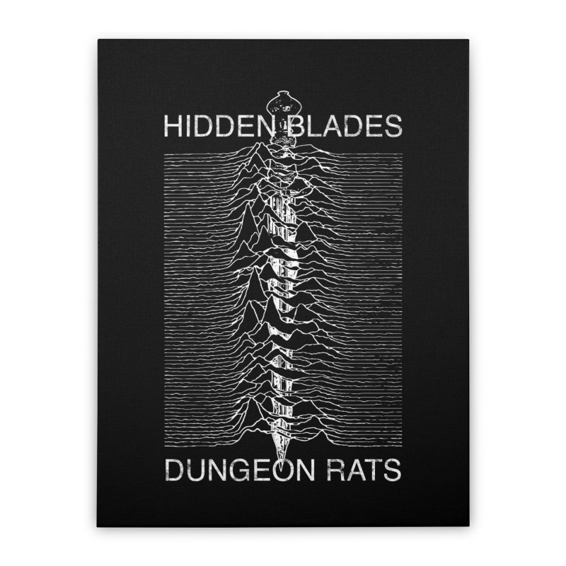 Hidden Blades Home Stretched Canvas by The Dungeon Rat's Shop