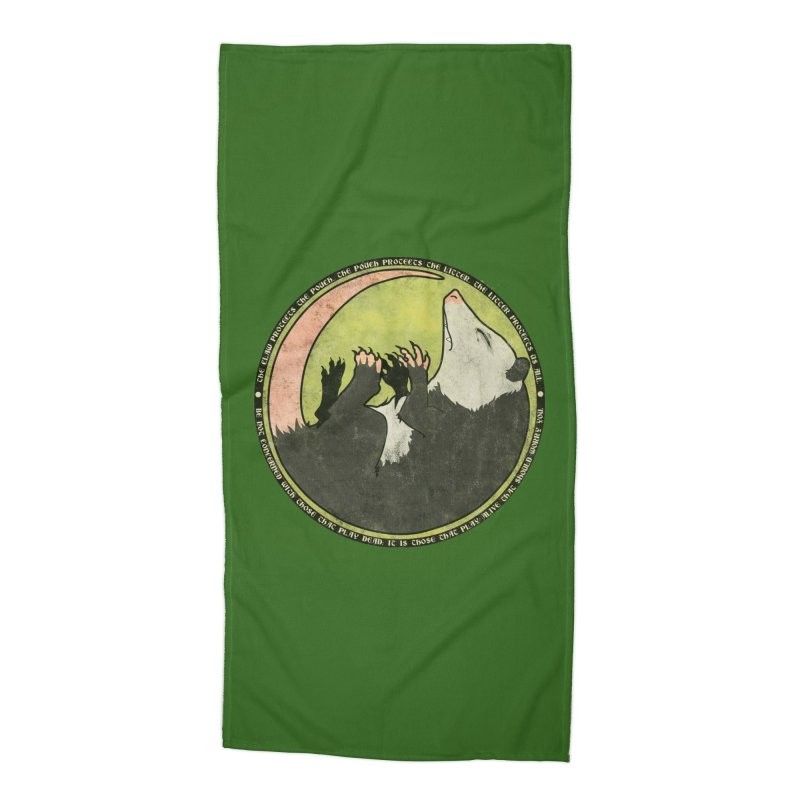 The Holy Possum Symbol Accessories Beach Towel by The Dungeon Rat's Shop