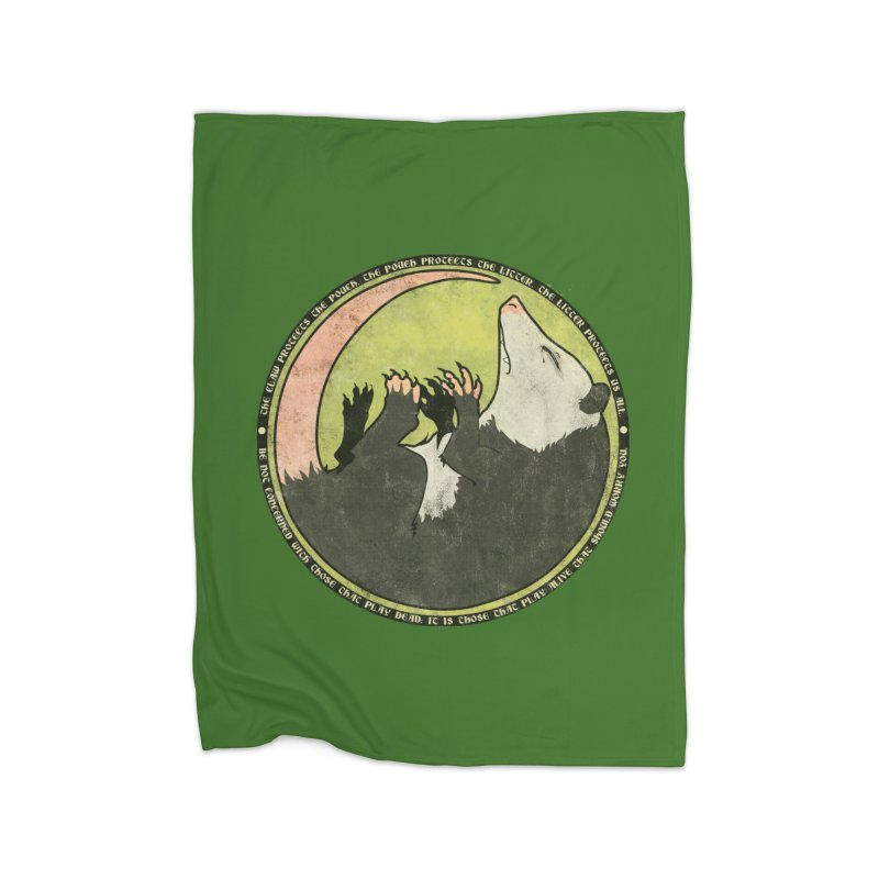 The Holy Possum Symbol Home Fleece Blanket Blanket by The Dungeon Rat's Shop