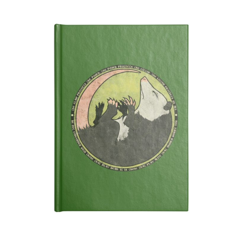 The Holy Possum Symbol Accessories Blank Journal Notebook by The Dungeon Rat's Shop