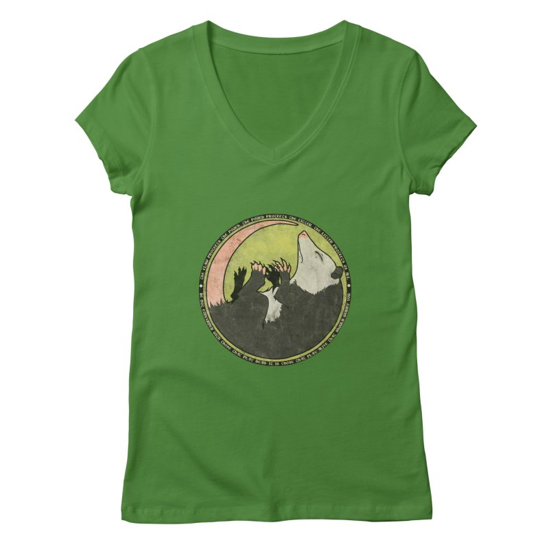 The Holy Possum Symbol Women's Regular V-Neck by The Dungeon Rat's Shop