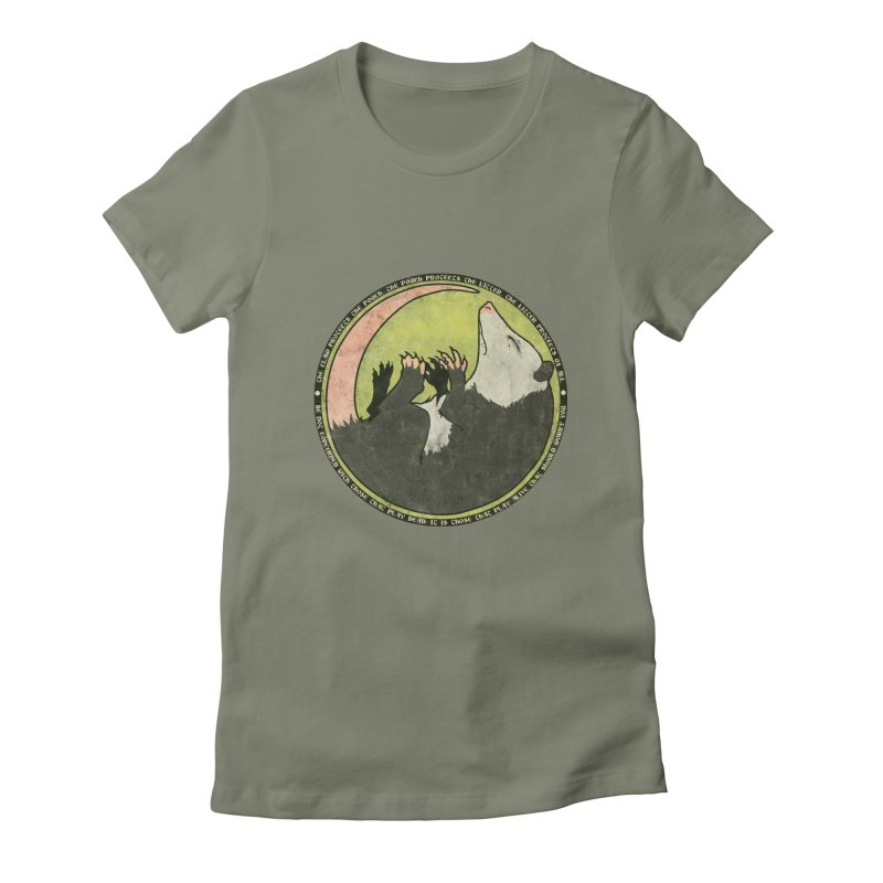 The Holy Possum Symbol Women's Fitted T-Shirt by The Dungeon Rat's Shop