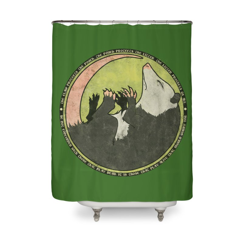 The Holy Possum Symbol Home Shower Curtain by The Dungeon Rat's Shop