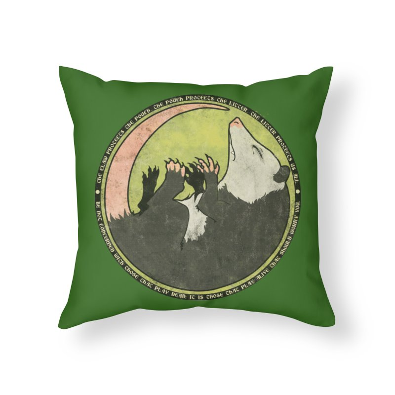 The Holy Possum Symbol Home Throw Pillow by The Dungeon Rat's Shop