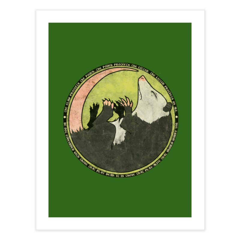 The Holy Possum Symbol Home Fine Art Print by The Dungeon Rat's Shop